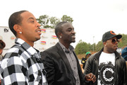 Recording Artists, Ludacris, Akon and Big Boi at South Cobb High School to give turkeys to families in need on November 24, 2009 in Austell, Georgia.