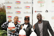 Recording Artists, Ludacris, Big Boi and Akon at South Cobb High School to give turkeys to families in need on November 24, 2009 in Austell, Georgia.
