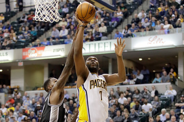 Al Jefferson San Antonio Spurs v Indiana Pacers