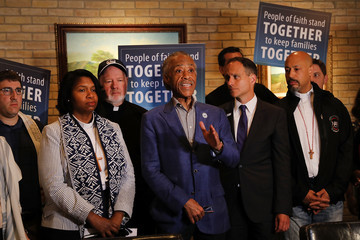 Al Sharpton Interfaith Clergy Visit TX Detention Center And Demand End To Family Separation