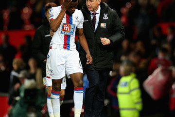 Alan Pardew manager Manchester United v Crystal Palace - Premier League