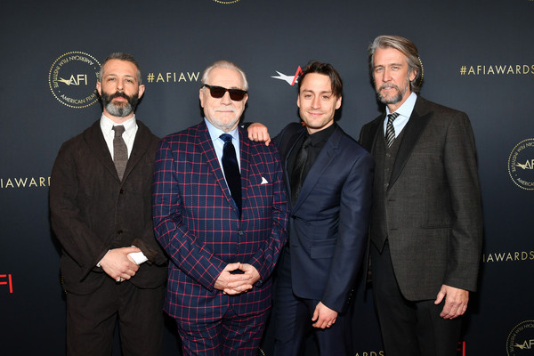 20th Annual AFI Awards - Arrivals [premiere,suit,event,design,white-collar worker,award,brand,arrivals,actors,jeremy strong,alan ruck,brian cox,kieran culkin,l-r,los angeles,california,afi awards,kieran culkin,jeremy strong,alan ruck,american film institute awards 2019,succession,american film institute,game of thrones,actor,kit harington,critics choice movie awards]