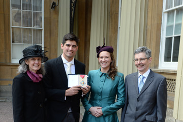 Alastair Cook Investitures Held At Buckingham Palace