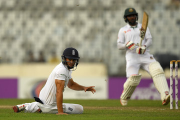 Alastair Cook Bangladesh v England - Second Test: Day Two