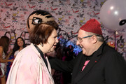Suzy Menkes and Alber Elbez attend the Alber Elbaz X LeSportsac New York Fashion Week Party at Gallery I at Spring Studios on September 5, 2018 in New York City.