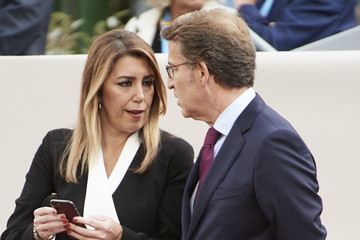 Alberto Nunez Feijoo Spanish Royals Attend The National Day Military Parade