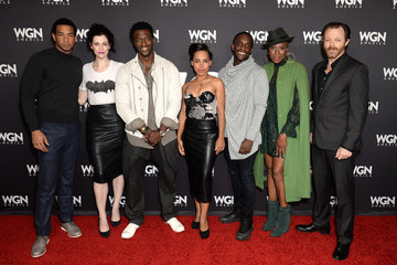 Aldis Hodge Amirah Vann Stars of WGN America's 'Salem,' 'Outsiders,' and 'Underground' Attend the Network's Cocktail Reception During New York Comic Con 2016