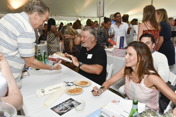 Authors Night At East Hampton Library [event,community,design,lunch,tourism,table,taste,meal,leisure,fashion accessory,authors night at east hampton library,east hampton,new york,alec baldwin,hilaria baldwin]