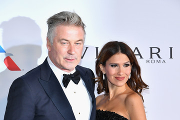 Alec Baldwin Hilaria Baldwin The Elton John AIDS Foundation's Annual Fall Gala With Cocktails by Clase Azul Tequila