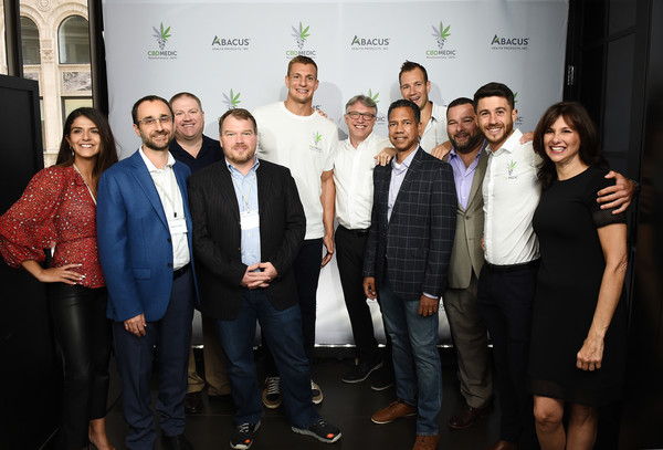 Rob Gronkowski Becomes An Advocate For CBD And Partners With Abacus Health Products [rob gronkowski becomes an advocate for cbd and partners with abacus health products,maker,cbdmedic,l-r,social group,event,team,tourism,management,company,businessperson,white-collar worker,rob gronkowski,gordy gronkowski,perry antelman,jim barkat,taylor amrani,hank hague]