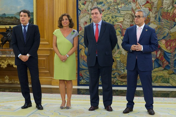 King Juan Carlos I Meets Madrid Candidate Members