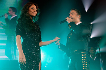 Jimena Navarrete Alejandro Fernandez Performs At MGM Grand In Las Vegas