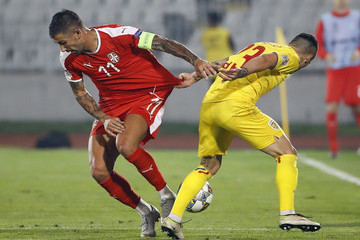 Aleksandar Kolarov Serbia vs. Romania - UEFA Nations League C