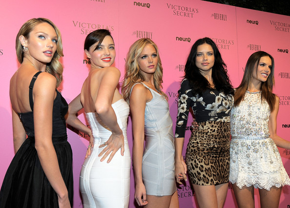 Alessandra Ambrosio and Miranda Kerr - Victoria's Secret Bombshells Celebrate The Reveal Of The What Is Sexy? List At The Beverly In Los Angeles