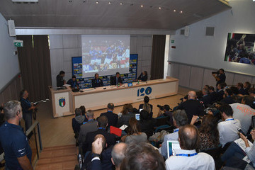 Alessandro Costacurta Italy Training Session And Press Conference
