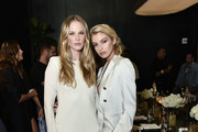 Anne Vyalitsyna and Stella Maxwell attend the Alevi Milano NYFW Dinner on September 09, 2019 in New York City.