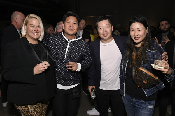 2020 Billboard Power List Event [social group,event,design,fun,crowd,photography,party,night,smile,colleen theis,alice han,danny lee,alex kim,l-r,neuehouse hollywood,los angeles,california,billboard power list event,livingly media,danny lee,photograph,image,shorts program,2020,neuehouse]
