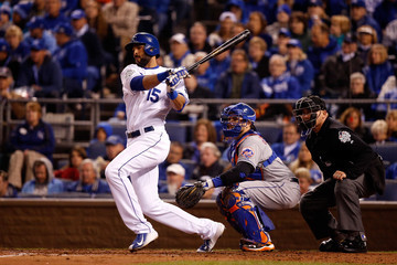 Alex Rios World Series - New York Mets v Kansas City Royals - Game Two