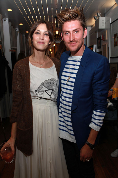(NORTH AMERICAN SALES ONLY)  Model/designer Alexa Chung and Henry Holland attend the Alexa Chung for Madewell launch party celebration during Fashion's Night Out at Madewell Boutique on September 10, 2010 in New York City.