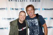 "Comedian/SiriusXM ""Opie & Anthony Show"" co-host Jim Norton and comedian Jim Florentine at SiriusXM Studio on August 18, 2011 in New York City."