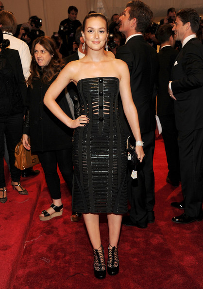 "Actress Leighton Meester attends the ""Alexander McQueen: Savage Beauty"" Costume Institute Gala at The Metropolitan Museum of Art on May 2, 2011 in New York City."