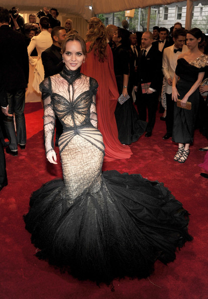 "Actress Christina Ricci attends the ""Alexander McQueen: Savage Beauty"" Costume Institute Gala at The Metropolitan Museum of Art on May 2, 2011 in New York City."