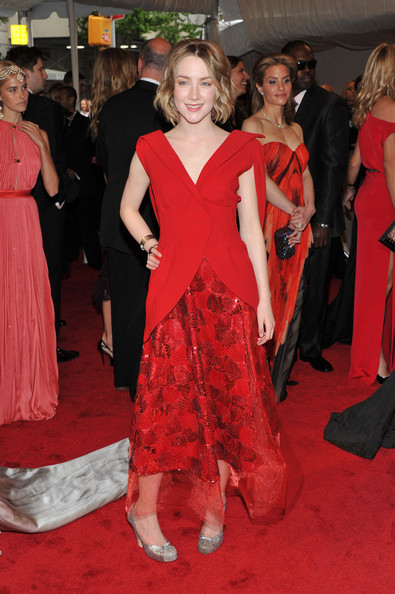 "Actress Saoirse Ronan attends the ""Alexander McQueen: Savage Beauty"" Costume Institute Gala at The Metropolitan Museum of Art on May 2, 2011 in New York City."
