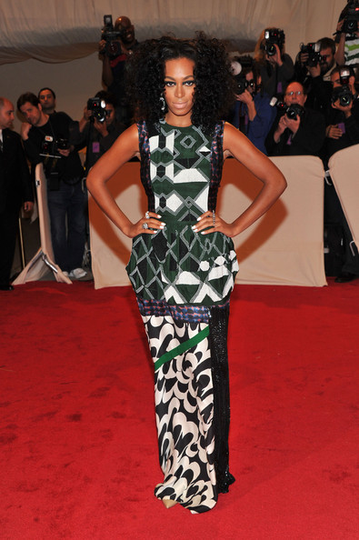 "Singer Solange Knowles attends the ""Alexander McQueen: Savage Beauty"" Costume Institute Gala at The Metropolitan Museum of Art on May 2, 2011 in New York City."