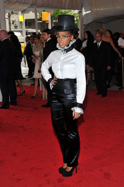 "Singer Janelle Monae attends the ""Alexander McQueen: Savage Beauty"" Costume Institute Gala at The Metropolitan Museum of Art on May 2, 2011 in New York City."