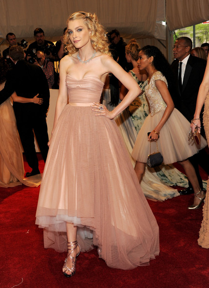 """Model Jessica Stam attends the """"Alexander McQueen: Savage Beauty"""" Costume Institute Gala at The Metropolitan Museum of Art on May 2, 2011 in New York City."""