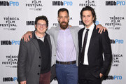 Producer Isaac Klausner, Director Dan Krauss and actor Nat Wolff attend as Alexander Skarsgård receives the IMDb STARmeter Award at The 2019 Tribeca Film Festival After Party for The Kill Team hosted by IMDbPro at The Ainsworth - FiDi on April 27, 2019 in New York City.