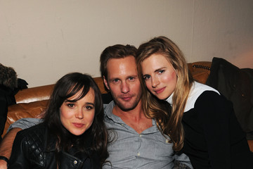 """Alexander Skarsgard Elliot Page Grey Goose Blue Door Fox Searchlight Pictures - """"Stocker"""" And """"The East"""" Party - 2013 Park City"""