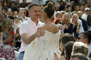 French designer Alexandre Vauthier kisses singer Celine Dion at the end of the Alexandre Vauthier Haute Couture Fall/Winter 2019 2020 show as part of Paris Fashion Week on July 02, 2019 in Paris, France.