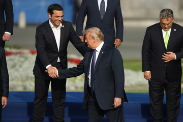 Alexis Tsipras World Leaders Meet For NATO Summit In Brussels