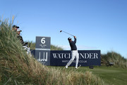 Matt Kuchar of The United States tees off on the sixth during day one of the 2018 Alfred Dunhill Links Championship at Kingsbarns golf links on October 4, 2018 in Kingsbarns, Scotland.