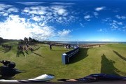 Peter Hanson of Sweden plays off the 16th tee during the third round of the Alfred Dunhill Links Championship on the Golf Links course, Kingsbarns on October 8, 2016 in Kingsbarns, Scotland.