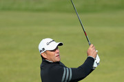 Jacques Kallis, former cricket player, plays his second shot on the 14th during day three of the 2017 Alfred Dunhill Championship at The Old Course on October 7, 2017 in St Andrews, Scotland.