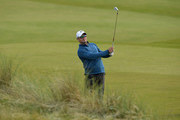 Former South African cricketer Mark Boucher (Am), plays his third shot to the 16th during the Alfred Dunhill Links Championship previews at Kingsbarns Golf Links on October 4, 2016 in St Andrews, Scotland.