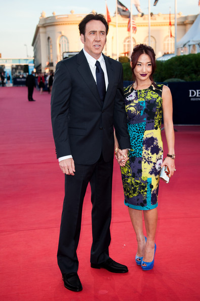 in this photo nicolas cage alice kim nicolas cage and his wife alice