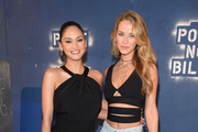 (L-R) Miss Universe 2015 Pia Wurtzbach and  Miss USA 2015 Olivia Jordan attend the Alice + Olivia By Stacey Bendet - Arrivals at The Gallery, Skylight at Clarkson Sq on February 16, 2016 in New York City.