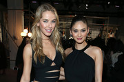 Olivia Jordan (L) and Pia Wurtzbach pose at the alice + olivia by Stacey Bendet Fall 2016 presentation at The Gallery, Skylight at Clarkson Sq on February 16, 2016 in New York City.