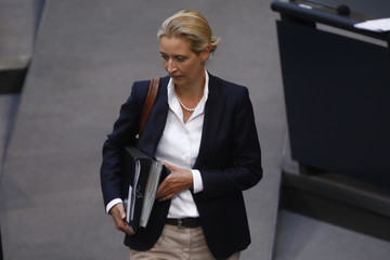 Alice Weidel Merkel Takes Questions At Bundestag Session