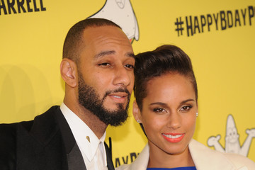 Alicia Keys Pharrell Williams Celebrates 41st Birthday With SpongeBob SquarePants Themed Party - Arrivals