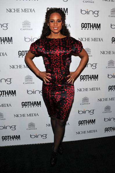 Recording artist Alicia Keys attends the Gotham Magazine annual gala presented by Bing at Capitale on March 15, 2010 in New York City.