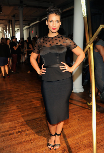 Alicia Keys - Jason Wu - Front Row - MADE Fashion Week Spring 2014