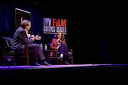 """Film critic Peter Travers moderates a discussion with actress Sigourney Weaver following a 40th Anniversary screening of """"Alien"""" at Symphony Space on November 29, 2018 in New York City."""