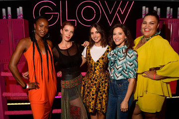 Alison Brie Betty Gilpin Netflix's 'Glow' Celebrates Its 10 Emmy Nominations With Roller-Skating Event