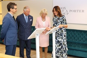 Alison Loehnis The Prince Of Wales And Duchess Of Cornwall Visit Yoox Net-a-Porter Tech Hub