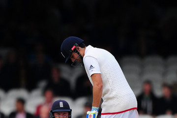 Alistair Cook England v New Zealand: 1st Investec Test - Day Three