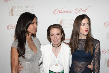 Allison Williams Lena Dunham 8th Annual Blossom Ball Benefiting The Endometriosis Foundation Of America Hosted By EFA Founders Padma Lakshmi And Tamer Seckin, MD - Arrivals